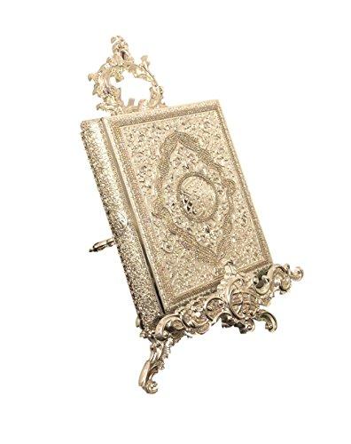 Beautiful Koran Fällen Gold & Silber Metall Ornament inkl. Vertikaler Ständer * Exklusives und Limited *, metall, silber