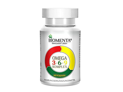Biomenta® OMEGA 3-6-9 FETTSÄUREN Komplex - 60 Omega 3-6-9-Kapseln