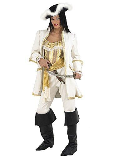 Karibik Aus Fluch Der Elizabeth Kostüm - Unbekannt Stamco, Korsar Pirat De Luxe, Piraten Kostüm für Damen