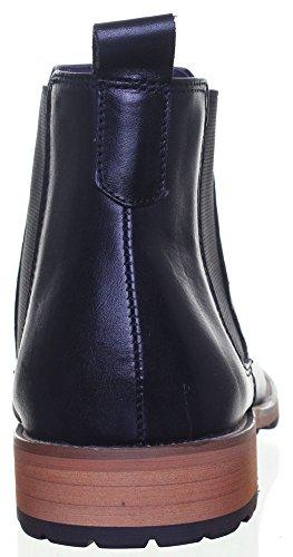 Reece Justin Bruno mat Chaussures en cuir pour homme Semelle en caoutchouc résistant Noir - Black EK
