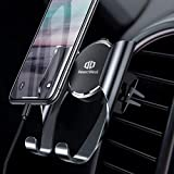DesertWest Mobile Phone Holder Car Universal Car Air Vent Ventilation with Automatic Reminder Function for iPhone X/8/7 Plus/6S, Samsung S9/S8 Edge, Huawei/LG and More
