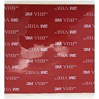 3M VHB 5952 Heavy Duty cinta de montaje Negro de Espuma Acrílica Doble cinta adhesiva de doble cara   Tamaño : 10 cm x 10 cm   Grosor: 1,1 mm   Color : Negro   Muy alta Bond   en lugar de remaches , tornillos y otros fijación mecánica   impermeable   Sensible a la presión