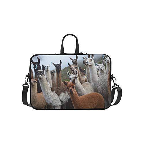 Bunte Gruppe Packung Alpakas Muster Aktentasche Laptoptasche Messenger Schulter Arbeitstasche Crossbody Handtasche Für Geschäftsreisen -
