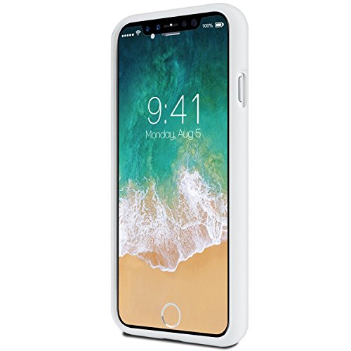 iPhone X Hülle ,GOOSfürY® [Thin Slim] GOOSfürY [Flexible] Pearl Glitter Soft feeling Jelly [fürfect Fit] Rubber TPU Case [Lightweight] Bumfür Cover [Impact Resistant] für Apple iPhone X oro