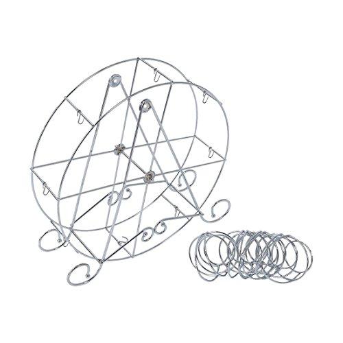 SODIAL(R) Einzigartig 8-Tasse Edelstahl?Rotierend Riesenrad Cupcake Staender Becherhalter