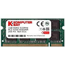 Komputerbay KB_1GB_PC2_4300_533_SODIMM - Memoria SODIMM para portátiles (1 GB, DDR2, 533 MHz, PC2-4200, PC2-4300, 200 pines)