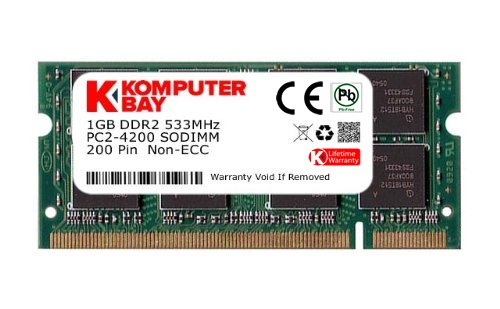 533 1gb Sodimm Notebook Speicher (Komputerbay 1GB DDR2 533MHz PC2-4200 PC2-4300 (200pin) SODIMM Laptop-Speicher)