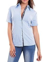 636a17a16f Toocool - Camicia donna avvitata maglia fiori cotone maniche corte bottoni  nuova Z-2238
