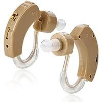 Amplificador auditivo de sonido BTE (detrás de la oreja) tamaño supermini de MEDca que realza el sonido para una mejor audición (par)