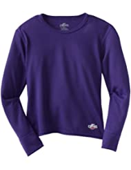 Hot Chillys Funktionsshirt Midweight - Camiseta de compresión de running para niña, color morado, talla L