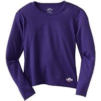 Hot Chillys Funktionsshirt Midweight - Camiseta de compresión de running para niña, color morado, talla XS