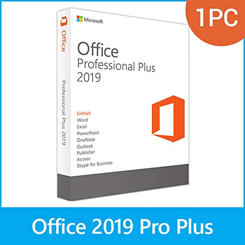 MS Office 2019 Professional Plus LIZENZ KEY - vorab E-Mail Versand (24 Std.) & Postbrief - 32 & 64 Bit - 1 Aktivierung / 1 PC + Anleitung von U-S-B Unleashed-Shop-Bolt®