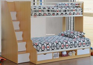 Sleepland Beds Trio - 3ft & 4ft Small double Bunk Bed