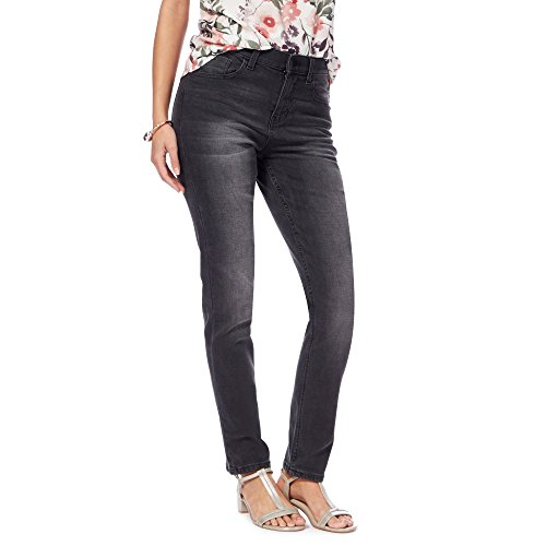 8dadbefe630ec John Rocha Womens Dark Grey 'Brooke' High-Waisted Slim Leg Jeans
