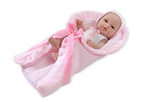 Muñecas Arias - Muñeco elegance natal con toquilla, 33 cm, color rosa (60081)
