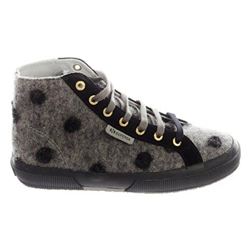 Superga Superga 2795-WOOLBIGPOISW LT GREY-BLACK LT GREY-BLACK