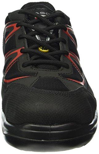 Mezzo scarpa Witten Giasco S3, taglia 47, 1 pz, Nero/rosso, ER062NR47