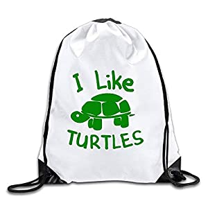 41wGIKbNWKL. SS300 engzhoushi Zaino con Coulisse,Sacchetto,Borsa Palestra Discovery Wild I Like Turtles Polyester Drawstring Backpack Rucksack Shoulder Bags Gym Bag Home Travel Sport Storage Use