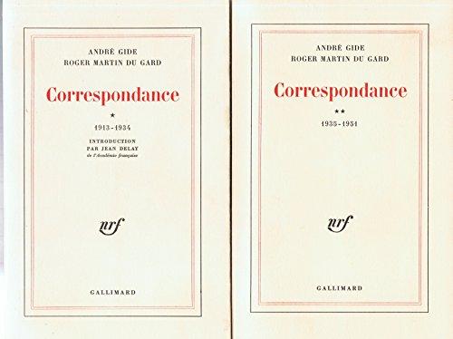 Correspondance - 1913-1934 - 1935-1951. par Martin du Gard Roger Gide André