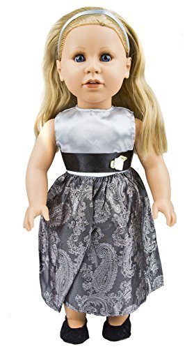 Today s Girl 4 Piece Elegant Party Dress Clothing Set Fits All 18 Inch Dolls by Constructive Playthings