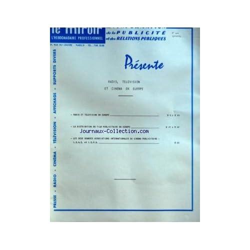 MIROIR DE L'INFORMATION DE LA PUBLICITE ET DES RELATIONS PUBLIQUES (LE) [No 200] du 13/10/1961