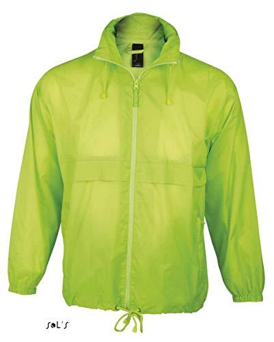SOL´S Windbreaker Surf Neon Lime, Größe:XXL Neon Windbreaker