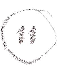 Braut Hochzeit Festzug jewllery Halsketten Ohrring-Set