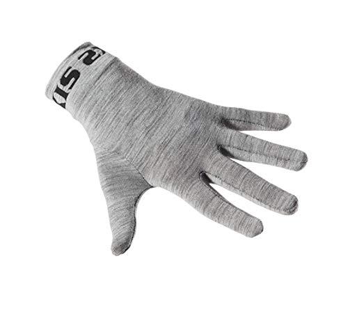 SIX2 Sottoguanti Merinos Carbon Underwear Wool Grey-L/XL Unisex Adulto