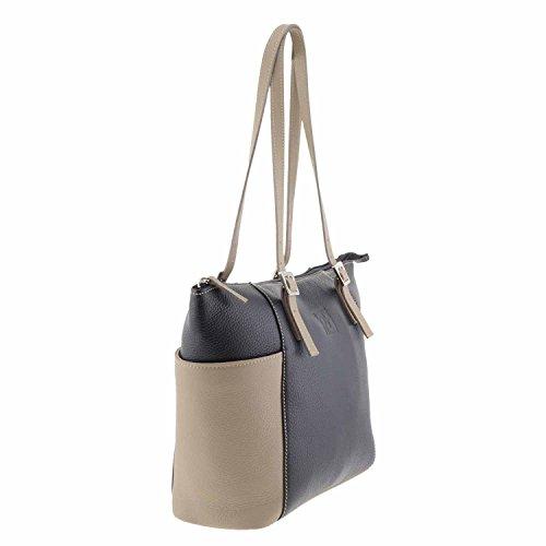TAUPE Stile di borsa NEGRO Stile borsa di pelle cestino AqPn8