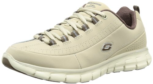 Skechers  SynergyTrend Setter,  Sneaker donna, Beige (STBR), 38