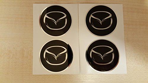 4x 65mm Durchmesser Sockel des Zentrum Radzylinder Mazda Aufkleber Emblem selbstklebend für flache Oberflächen Billig