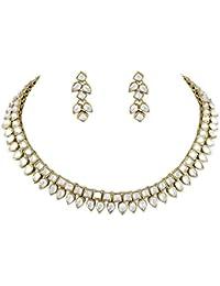 Shining Diva Fancy Party Wear Traditional Kundan Choker Necklace Set / Jewellery Set with Earrings for Girls / Women