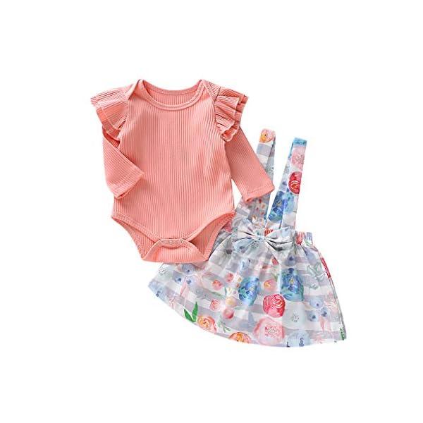 K-Youth Traje Bautizo Recien Nacido Conjunto de Bebe Fiesta Body Bebe Manga Larga Ropa Bebe Recien Nacido Niña Otoño… 2