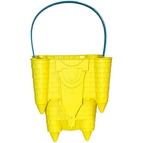 Solmar - Cubo de playa amarillo con forma de molde de castillo