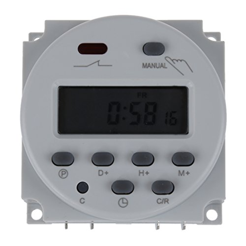 SODIAL(R) Interruttore Digital Power LCD Timer programmabile AC 220V-240V 16A