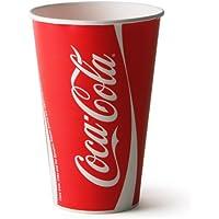 Thali Outlet–80x Coke/Coca Cola Bicchieri di carta da 250ml Fast Food Takeaways ristorante eventi compleanni matrimoni feste tutte le occasioni