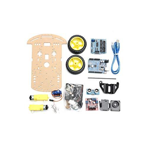 2WD一Vermeidung, die intelligente Roboter一Auto一Fahrgestell一Ausrüstung mit dem Drehzahlgeber一Ultraschall für Arduino UNO R3 aufspürt