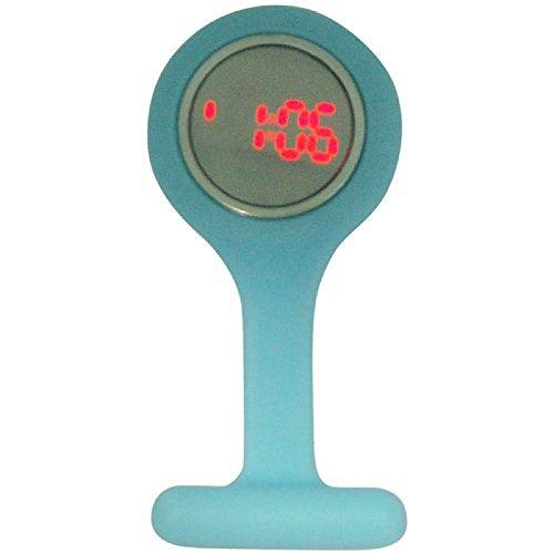 BOXX LED Digitaluhr, Hintergrundbel. blaue Kautschuk Krankenschwester Uhr