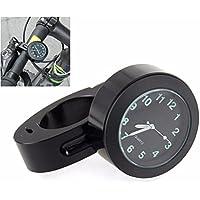 """Manillar de montaje Digital reloj 7/8"""" motocicleta moto accesorio impermeable (negro)"""