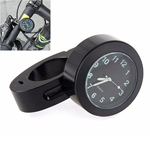 Manillar de montaje Digital reloj 7/8' motocicleta moto accesorio impermeable (negro)