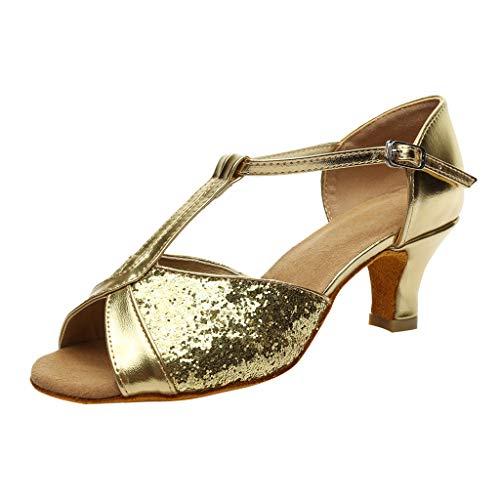 LHWY Sandalen Damen Sommer Damenmode Rumba Waltz Prom Ballroom Latin Salsa Tanzschuhe Sandalen Schnalle Schuhe