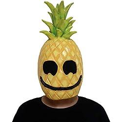 Máscara De Halloween, Halloween Traje De Fruta Piña Malvada Máscara De Látex, Horror Ghost Miedo, Máscara De Broma Cara Fiesta De Miedo, Accesorios De Bar, Masquerade