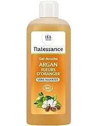 Natessance Hygiène Douche Gel Argan Fleur D'oranger sans Sulfates 500 ml