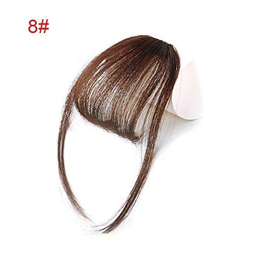 Alexsix Ein Stück Clip in Haar Pony Fringe Extensions Kunstfaser Haarteil für Frauen Mädchen - Pony Clip Lange In