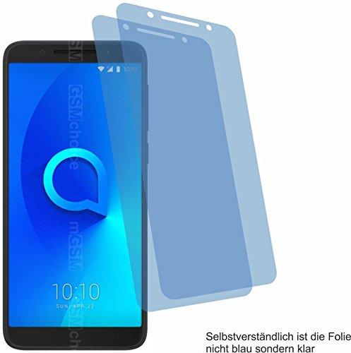 4ProTec 2X Crystal Clear klar Schutzfolie für Alcatel 1X Bildschirmschutzfolie Displayschutzfolie Schutzhülle Bildschirmschutz Bildschirmfolie Folie