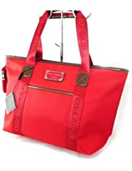 "Sac shopping ""Ted lapidus"" rouge coquelicot"