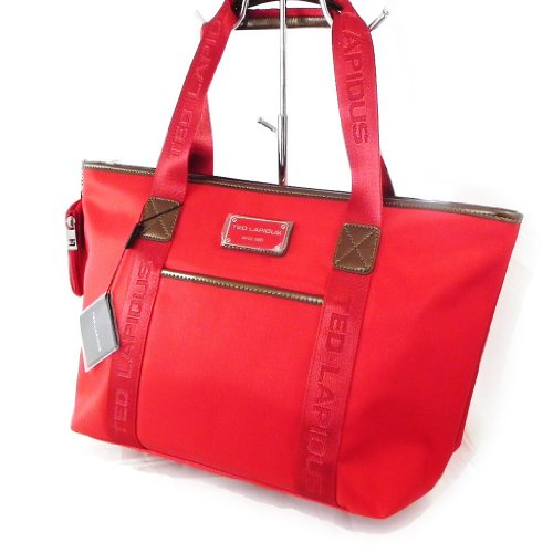 Shopping bag 'Ted Lapidus' papavero rosso.