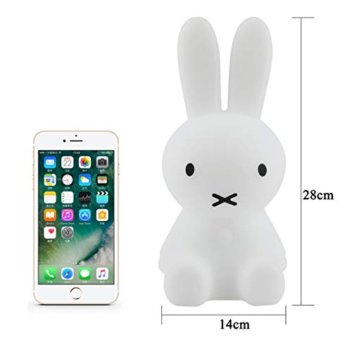Rabbit Lights Cute Night Light Children\'S Room Small Night Light Mifi Rabbit Light  28Cm Miffy Rabbit Beats Light