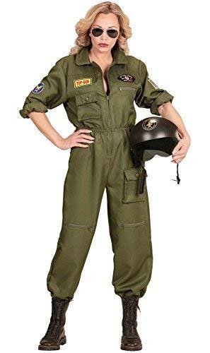 Für Flieger Damen Kostüm - Widmann-WDM65542 Erwachsenenkostüm für Damen, mehrfarbig, WDM65542, Medium