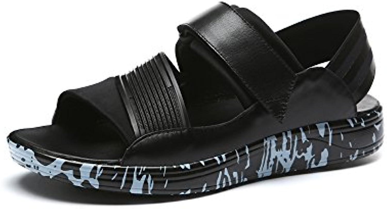 YQQ Trendige Sandalen Männliche Schuhe Strandschuhe Männer Sommer  Lässige Schuhe äußerer Verschleiß Ferienschuhe